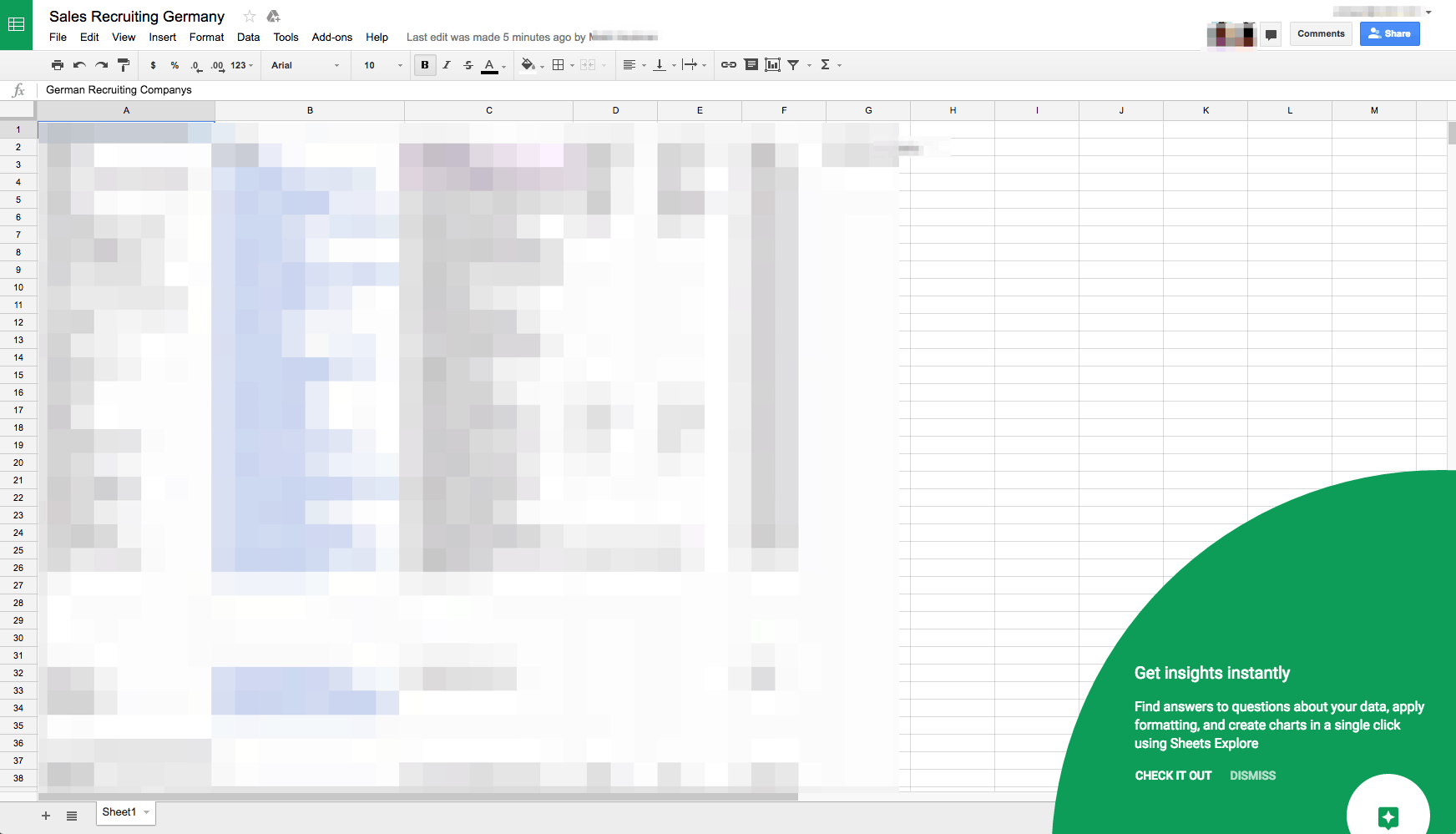 Tutorial on @spreadsheet
