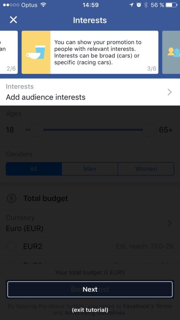 [Gallery] Facebook Audience Walkthrough iOS All iOS Stepper Walkthrough  - UI Garage - The database of UI