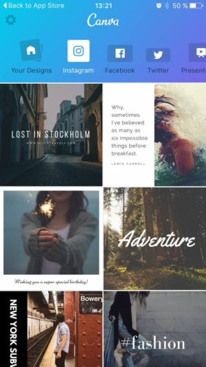 Canva Hompage from UIGarage