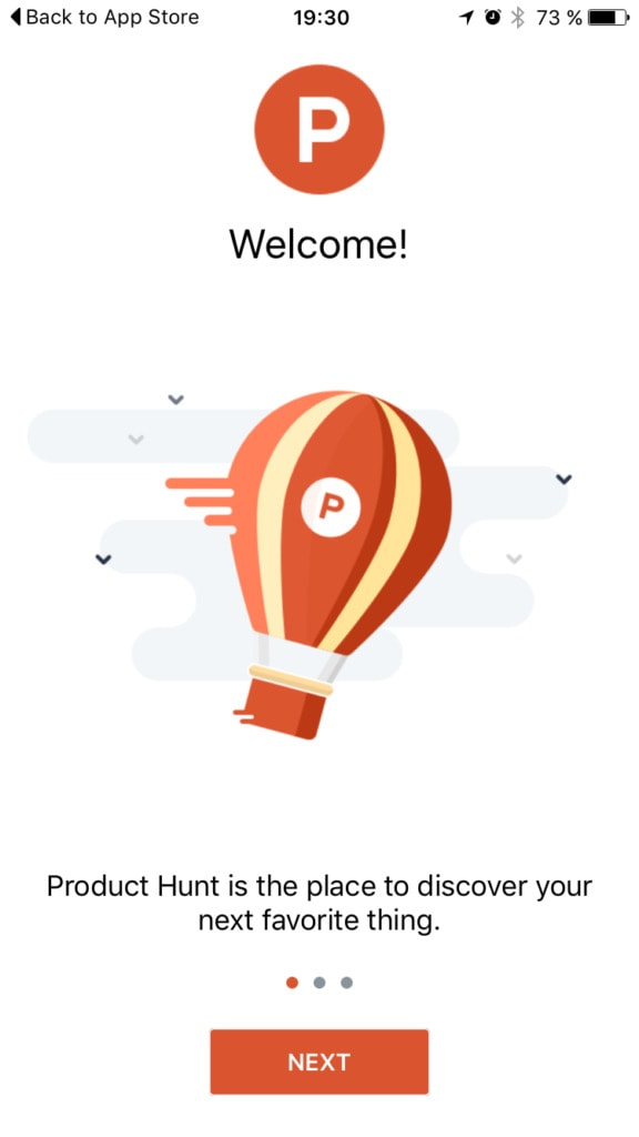 ProductHunt Onboarding from UIGarage