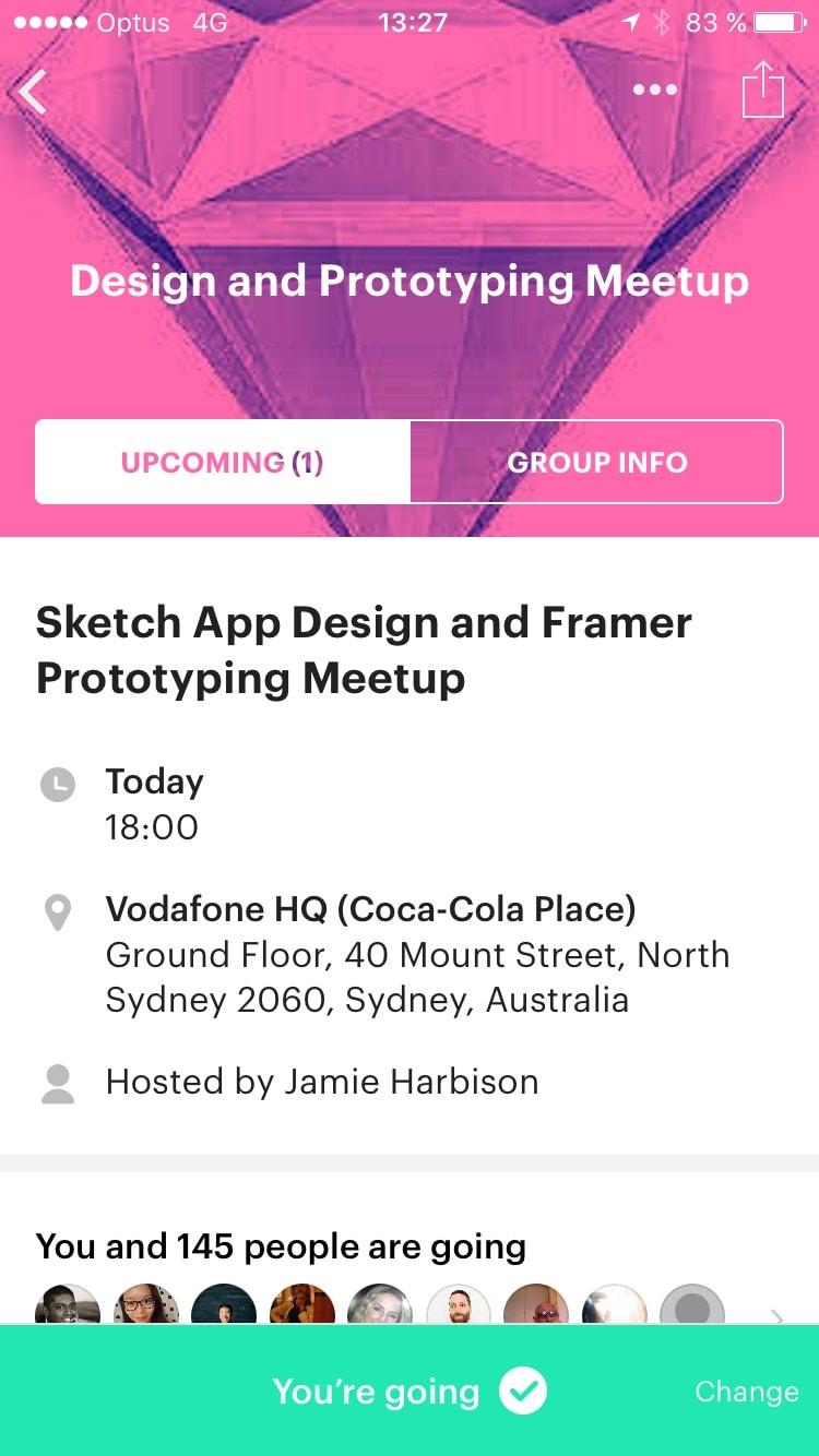 Meetup com app