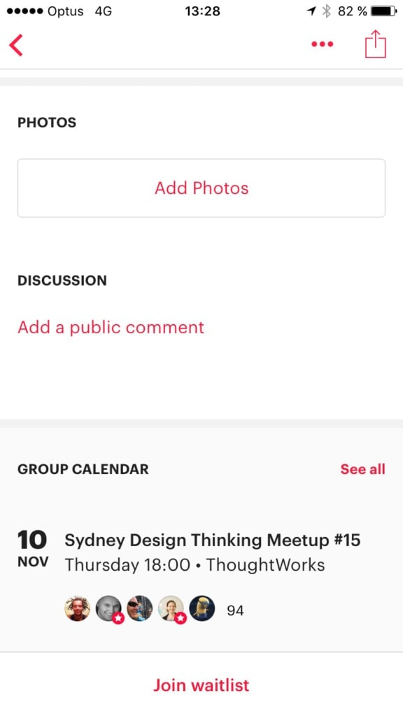 Meetup App - Walkthrough All Grid Invite iOS Map Mobile Select Walkthrough  - UI Garage - The database of UI