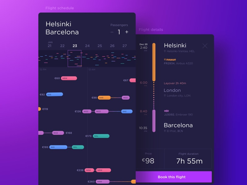 Fly App Tracker Daily Ui Design Inspiration Amp Patterns