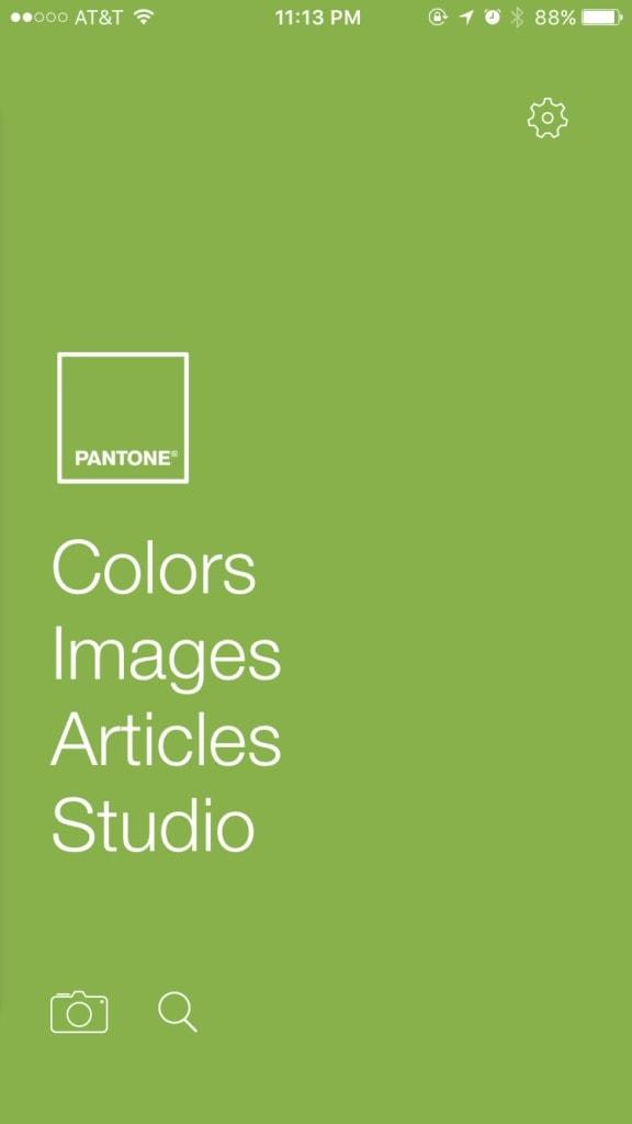 Pantone Studio App Walkthrough Browse Camera Categories Color Picker Dropdown Menu Tags User Picker Walkthrough  - UI Garage - The database of UI