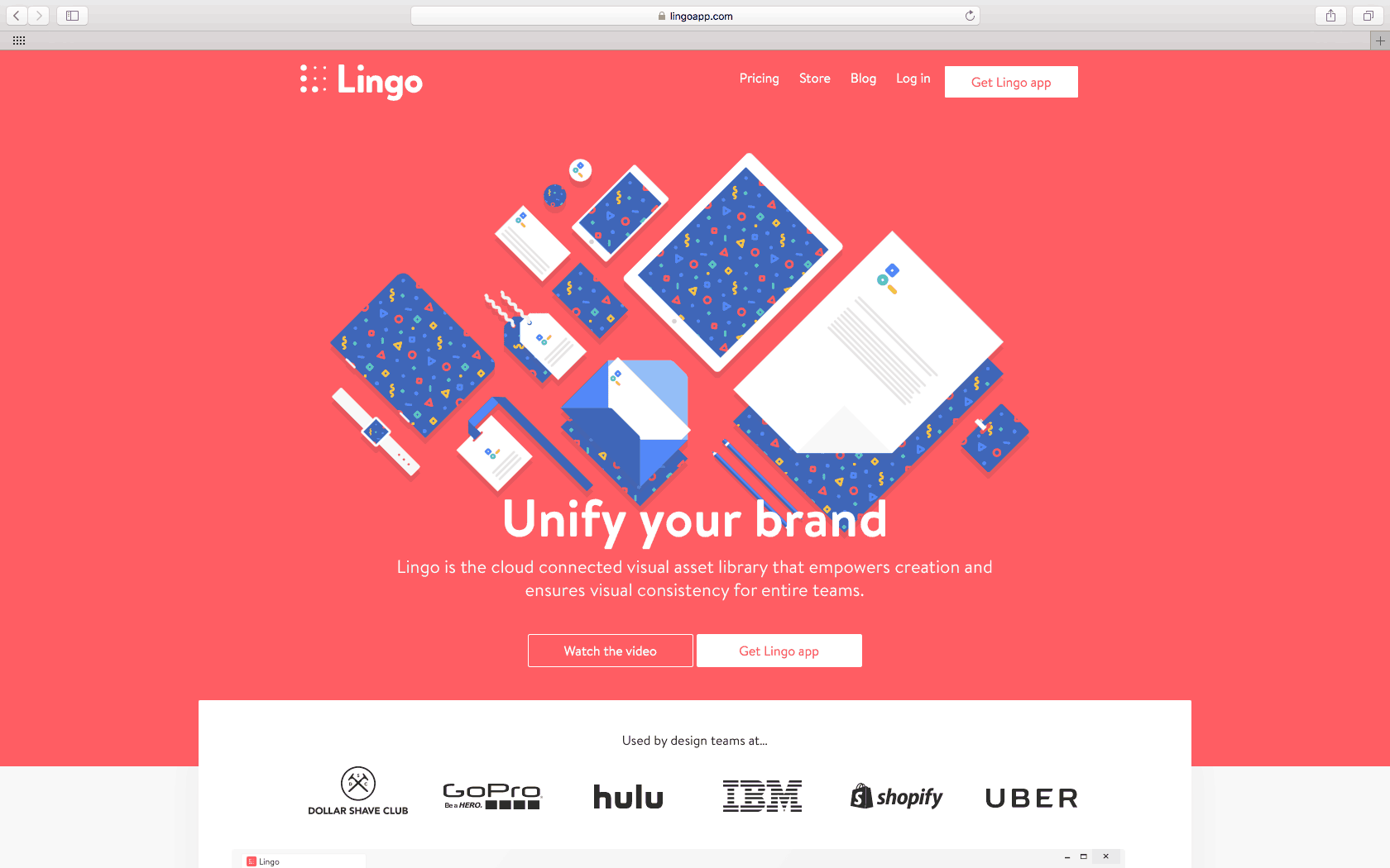 Lingo app homepage daily ui design inspiration for Garage design app