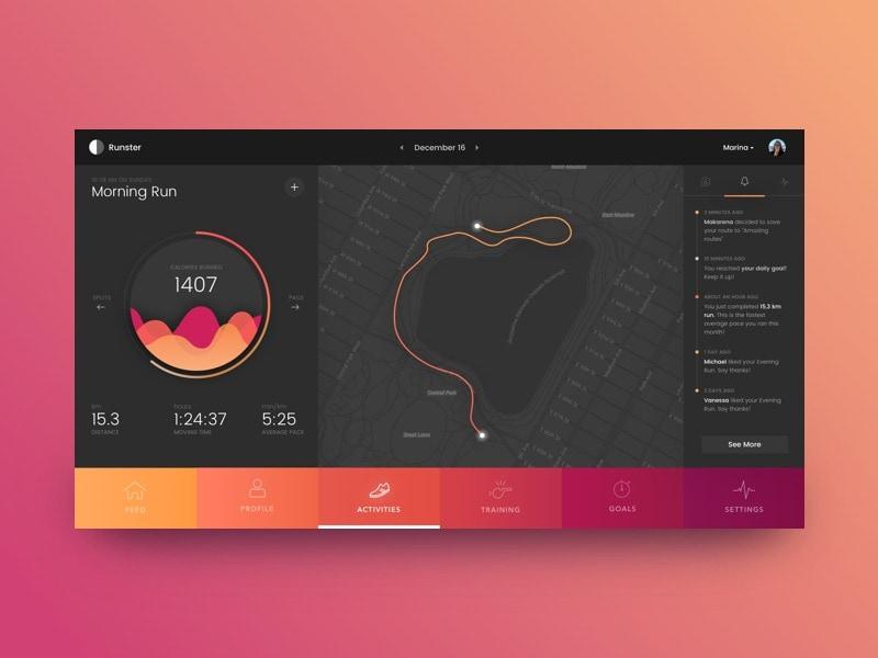 Dashboard Inspiration All Categories Dashboard iOS Map Menu Navigation Tab bar  - UI Garage - The database of UI
