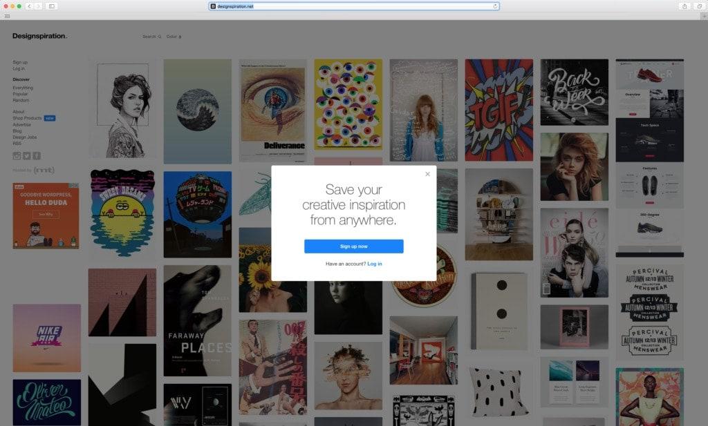 @Designspiration Alert Alerts All Homepage iOS Login Signup Web  - UI Garage - The database of UI