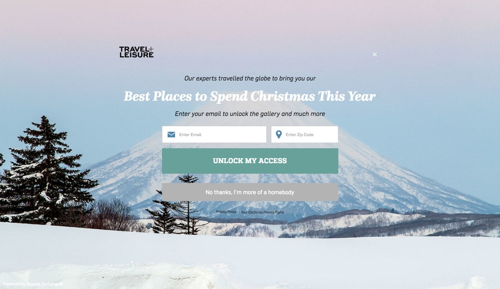 Travel+Leisure Signup
