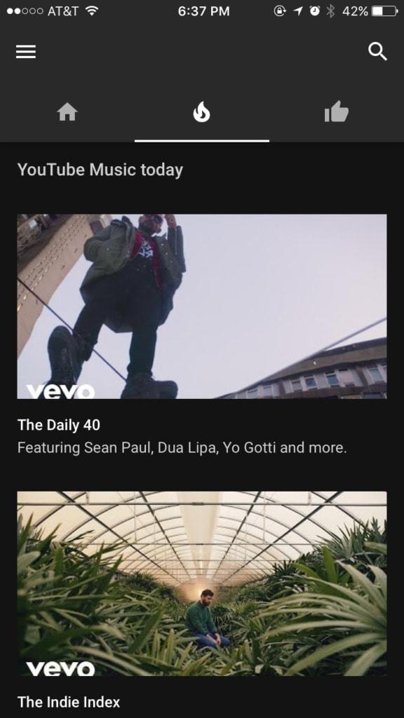 YouTube Music Walkthrough on iOS Launch Screen Menu Navigation Signup Walkthrough  - UI Garage - The database of UI