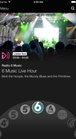 BBC Radio Music Player from UIGarage