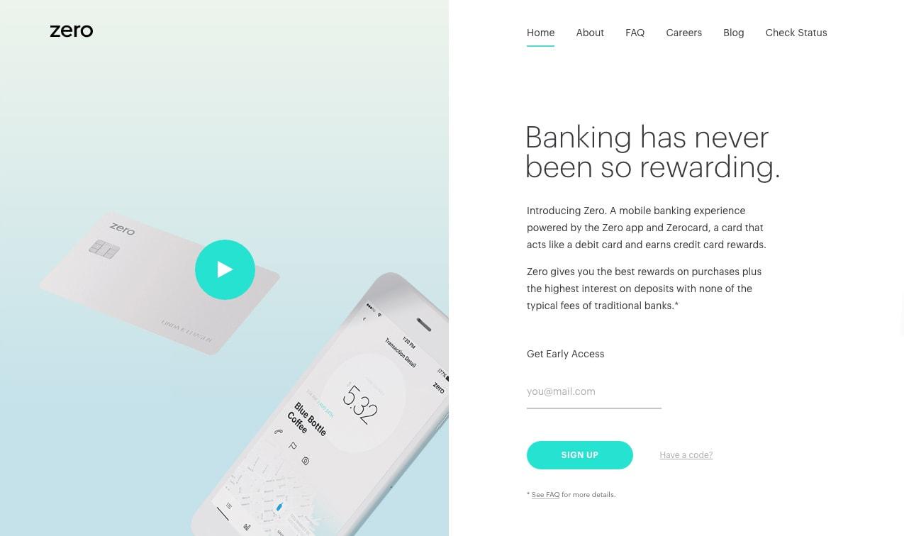 Zero Financial Walkthrough