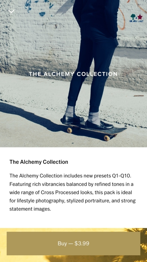VSCO Product Gallery All Gallery Mobile Product View  - UI Garage - The database of UI