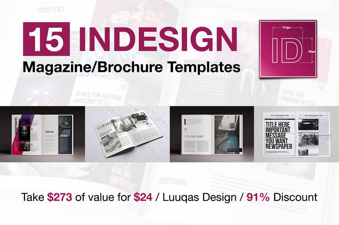 indesign free brochure templates - 15 indesign magazine brochure templates daily ui