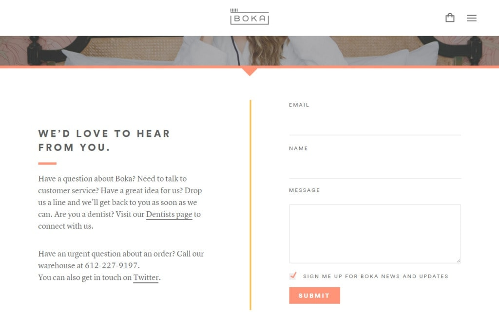 Boka Contact Form All Contact Forms Web  - UI Garage - The database of UI