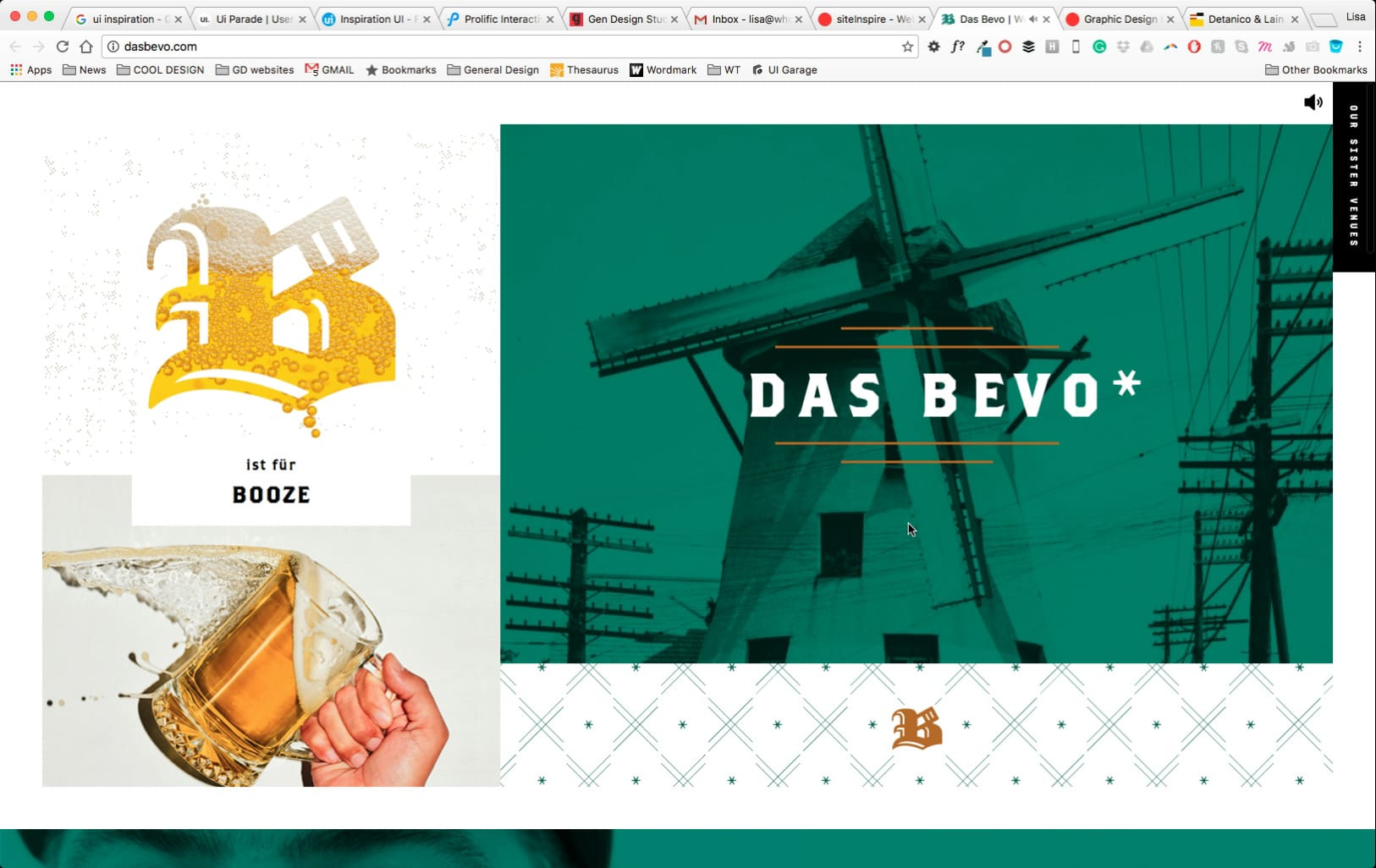 Das Bevo Web Design