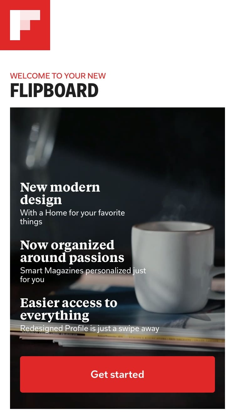 Flipboard Launch Screen