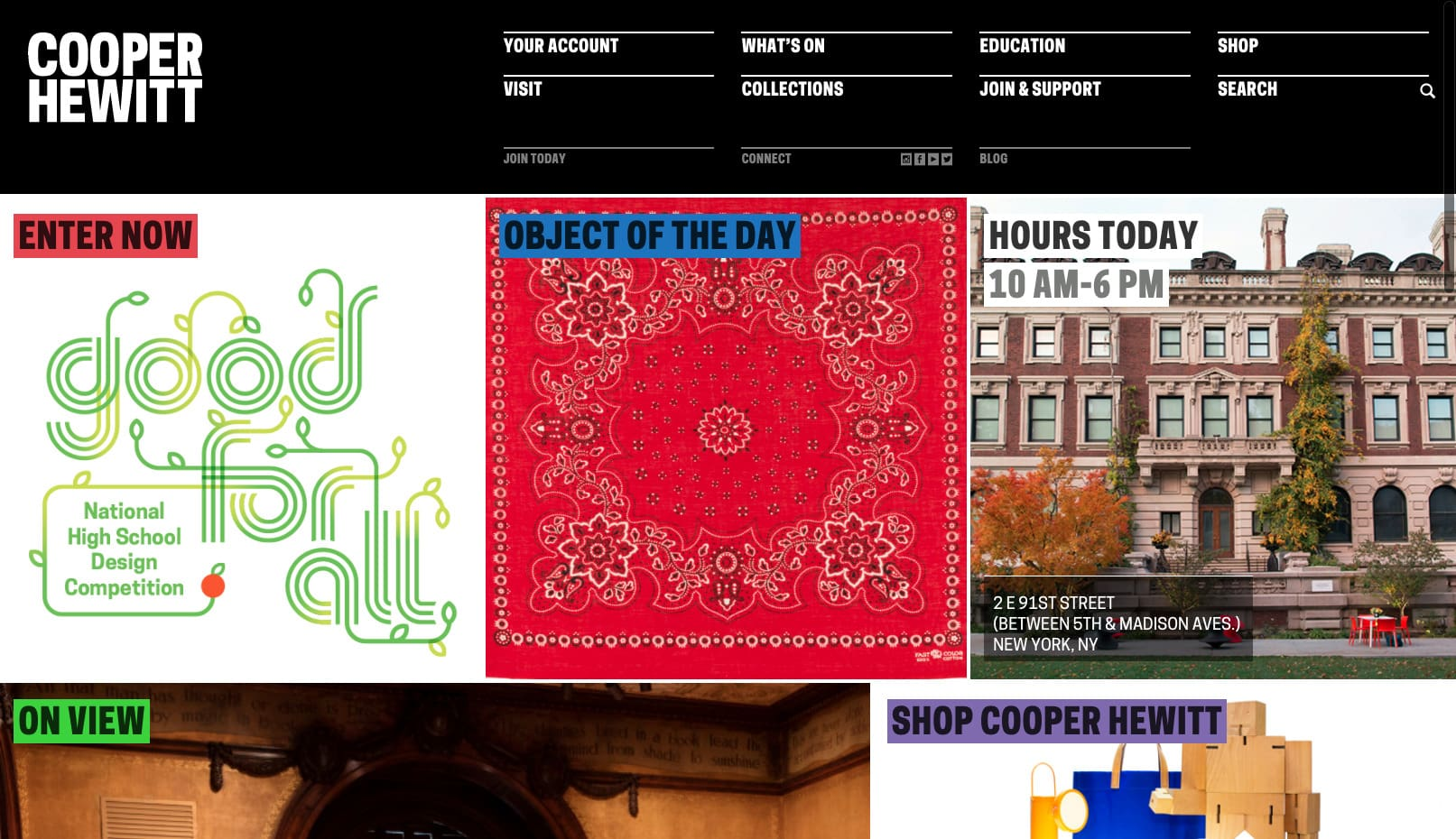Cooper Hewitt Website Inspiration