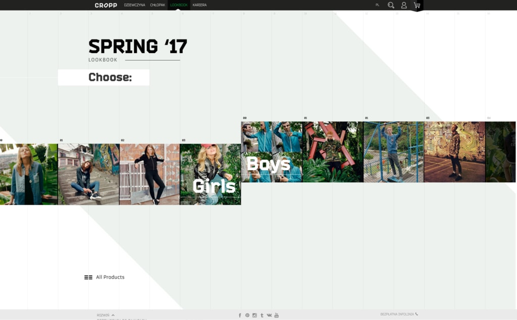 Cropp Website Grid Inspiration from UIGarage