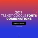 Google Fonts Combinations Landing Page