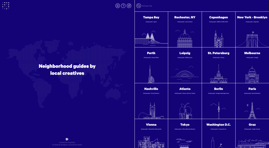 On The Grid City - Web Inspiration from UIGarage