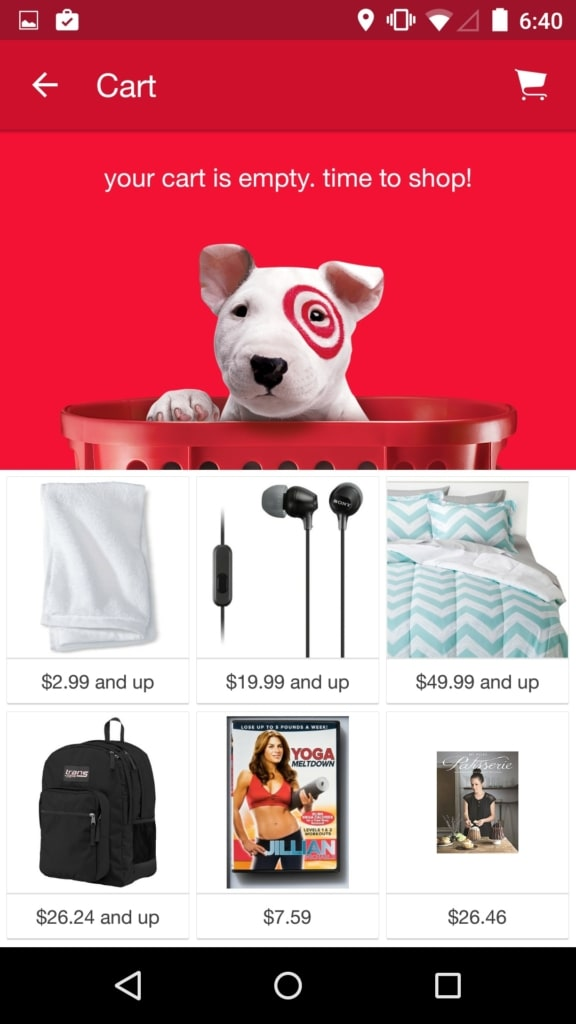 Target Categories All Cart Categories Grid Mobile Pricing Product View Search  - UI Garage - The database of UI