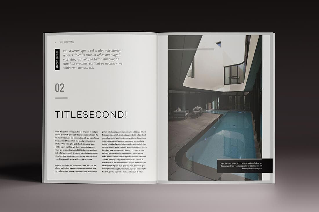 InDesign Magazine Brochure Templates Daily UI Design - Brochure indesign templates