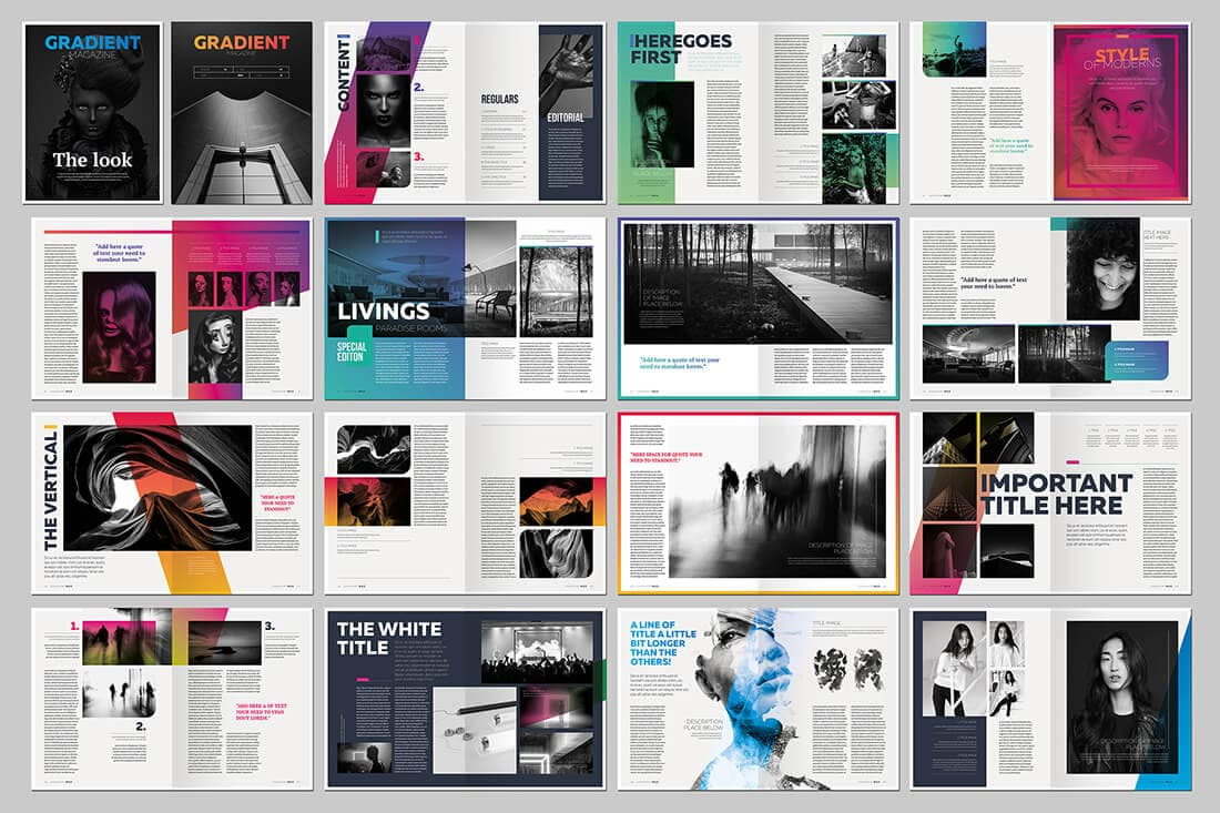 15 indesign magazine  u0026 brochure templates