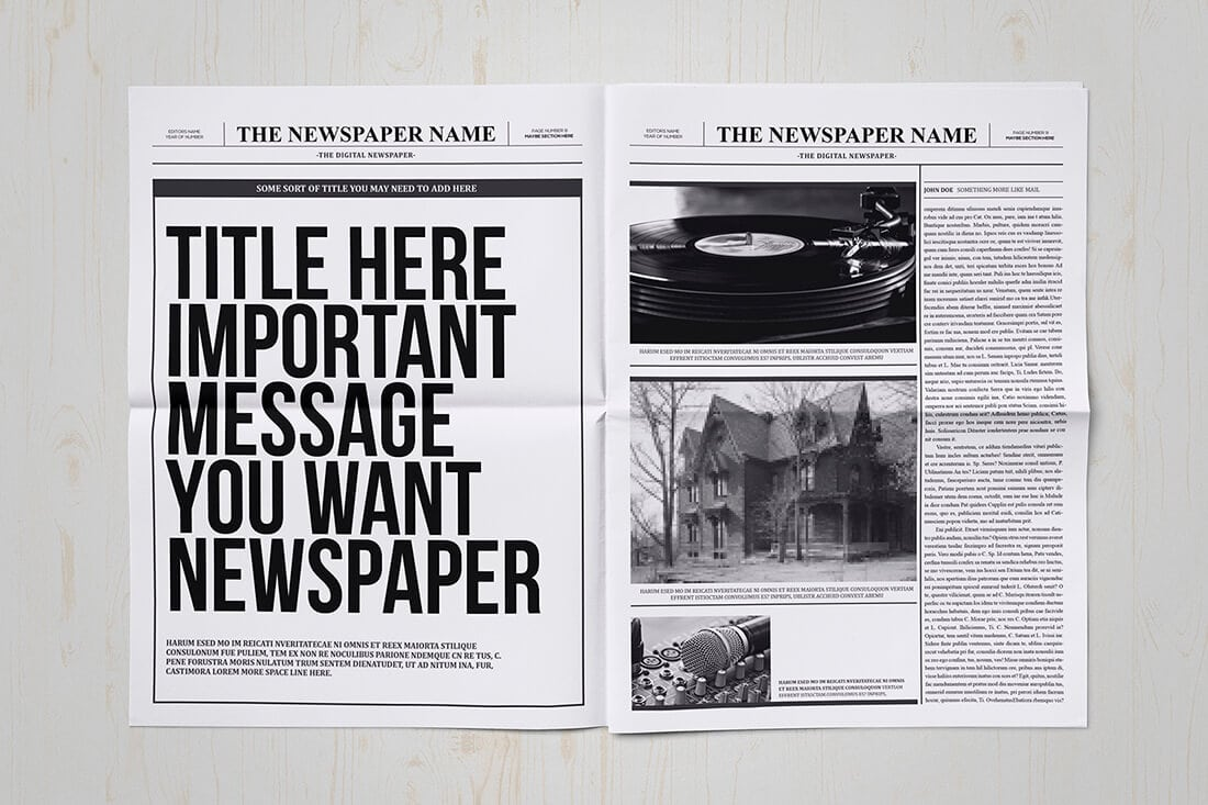 free newspaper templates print and digital wedding template download ...