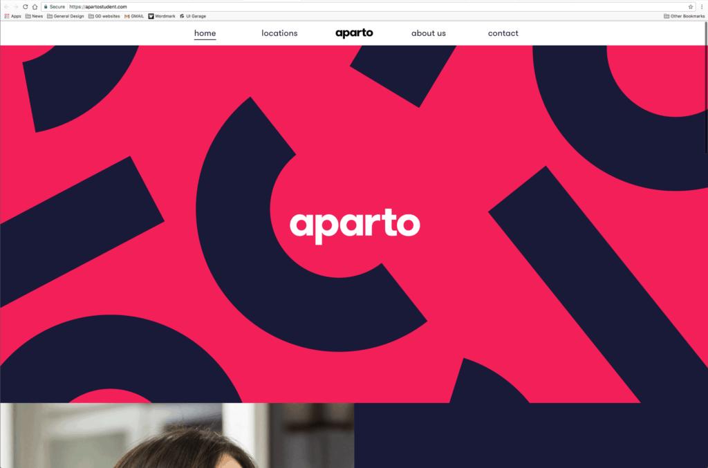 Aparto Web Inspiration from UIGarage