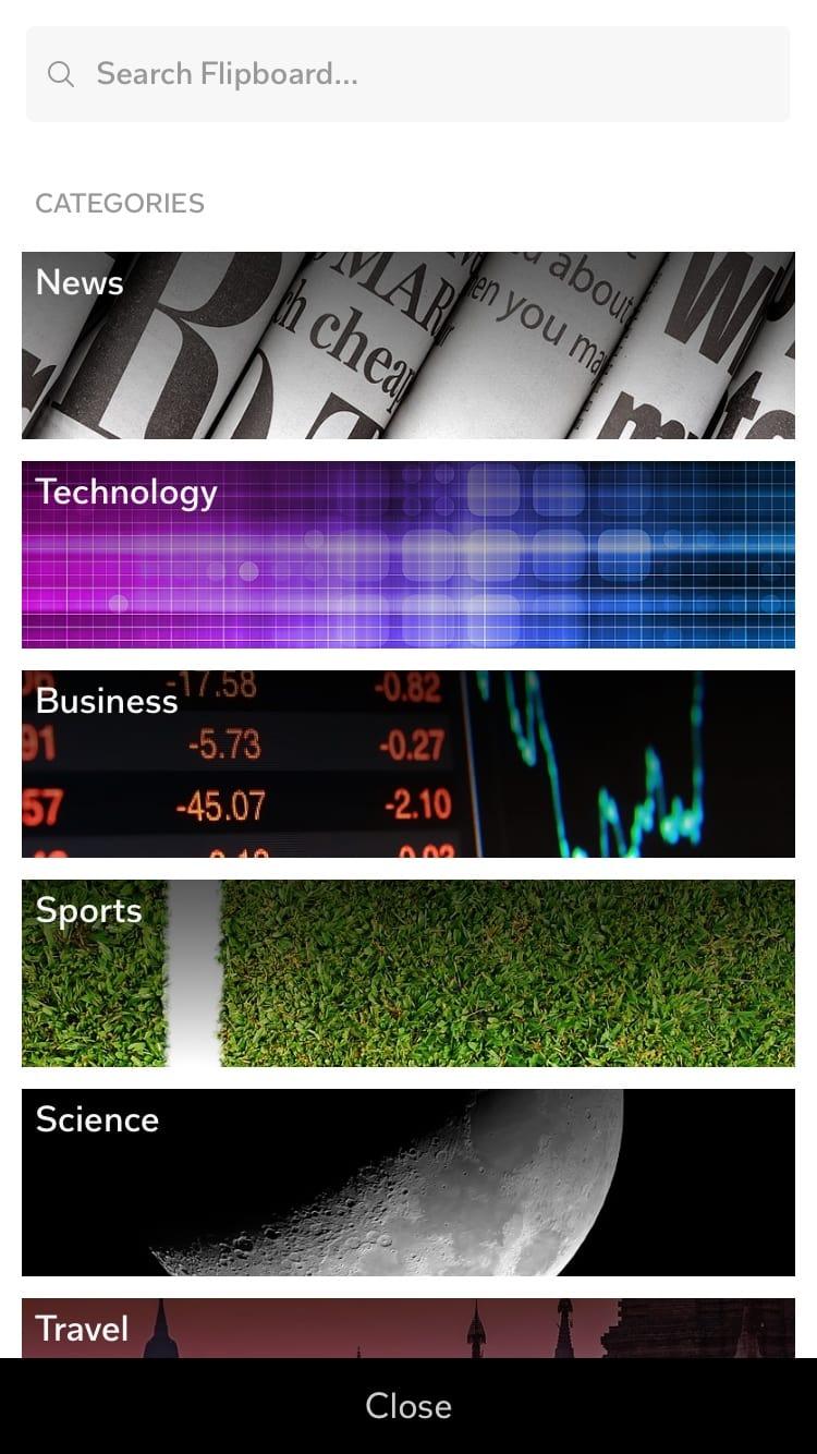 Flipboard Categories