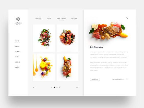 Loyale Restaurant Slider All Categories Grid Menu Navigation Product View Slider Web  - UI Garage - The database of UI