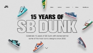 NikeSB Landing Page from UIGarage