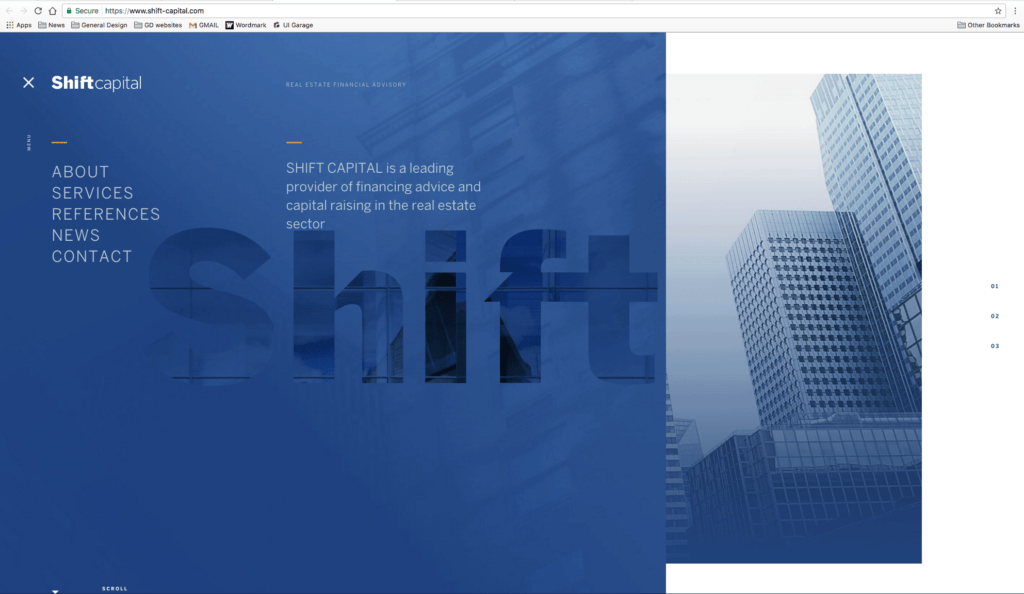 Shift Capital Menu All Homepage Menu Navigation Web  - UI Garage - The database of UI