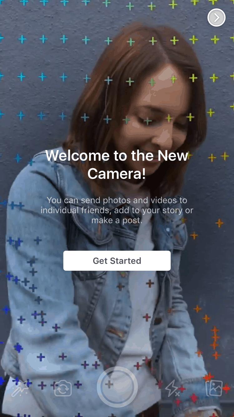 Facebook Camera Launch Screen