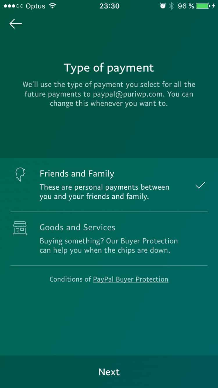 Checkbox Type Payment by PayPal