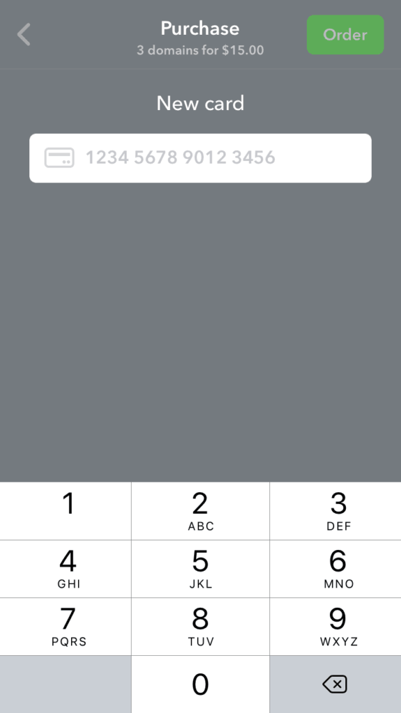 Add New Credit Card by Namecheap All Checkout iOS  - UI Garage - The database of UI