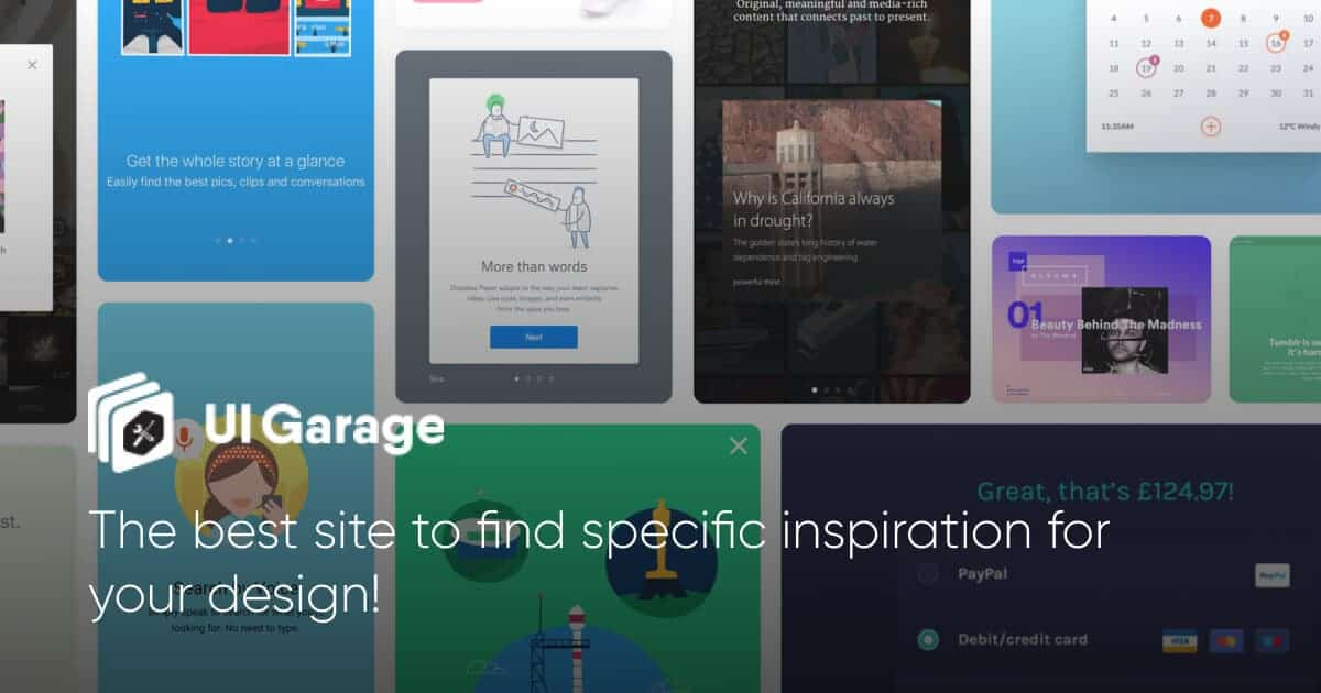 UI Garage - Daily UI Inspiration & Patterns for Web, Mobile & Tablet