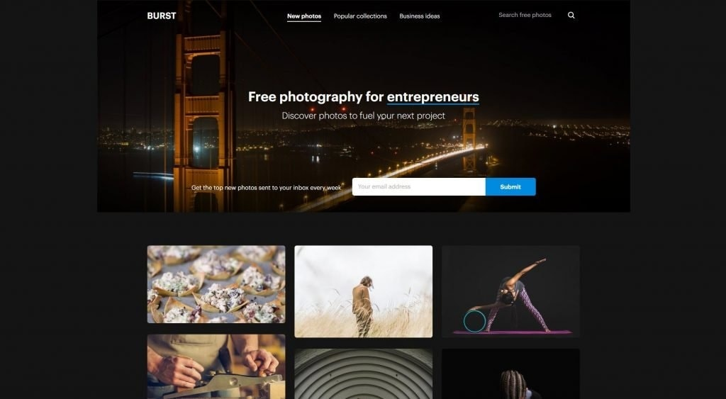 Burst by Shopify from UIGarage