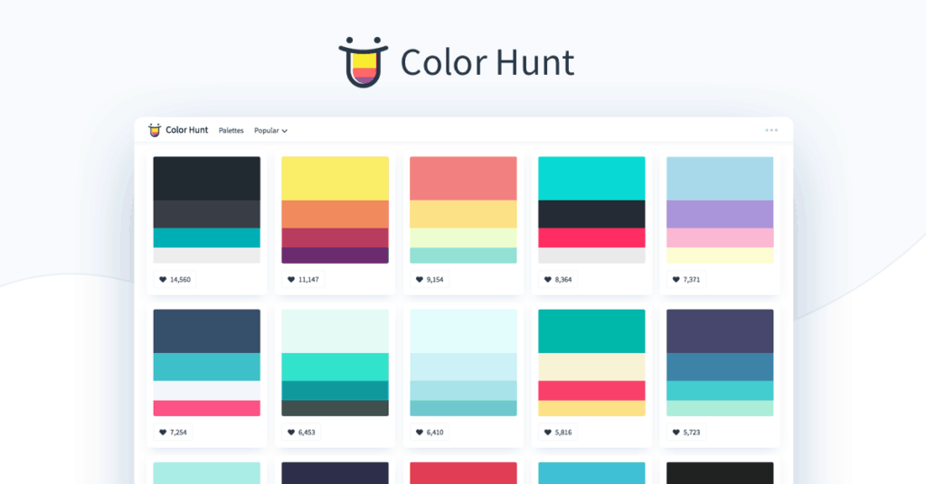 ColorHunt  - UI Garage - The database of UI