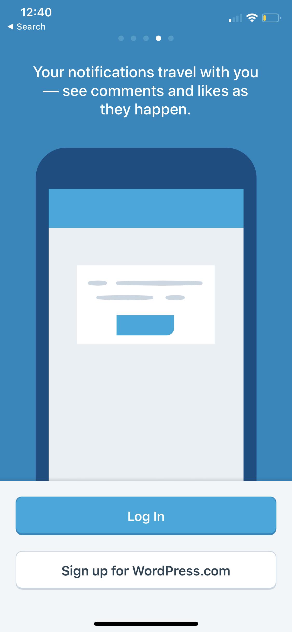 Walkthrough WordPress iOS