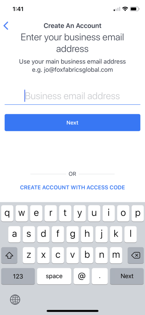 Login & Signup page by Workplace Facebook from UIGarage