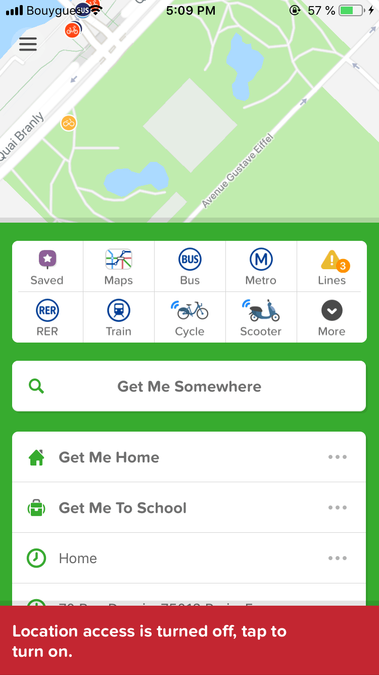 Error Message by Citymapper
