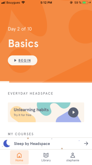 Homepage by Headspace from UIGarage