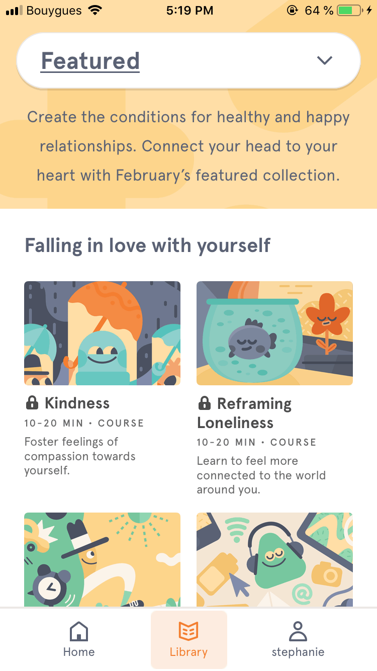 Library Content by Headspace