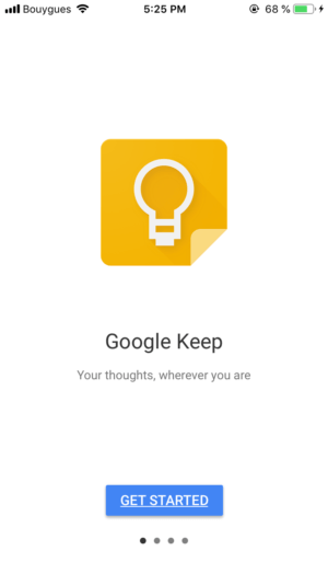 Walkthrough by Google Keep from UIGarage