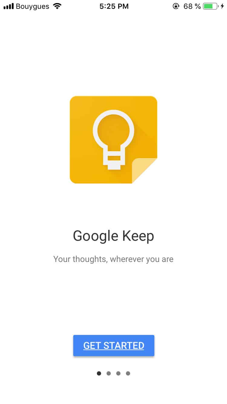 Walkthrough by Google Keep