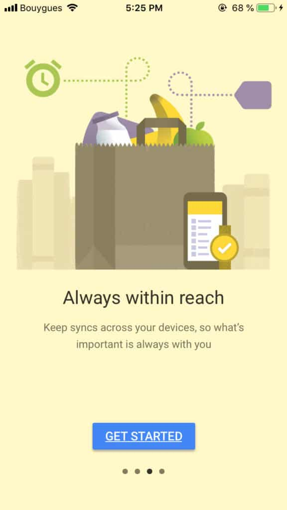 Walkthrough by Google Keep All iOS Walkthrough  - UI Garage - The database of UI
