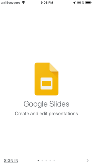 Walkthrough by Google Slides from UIGarage