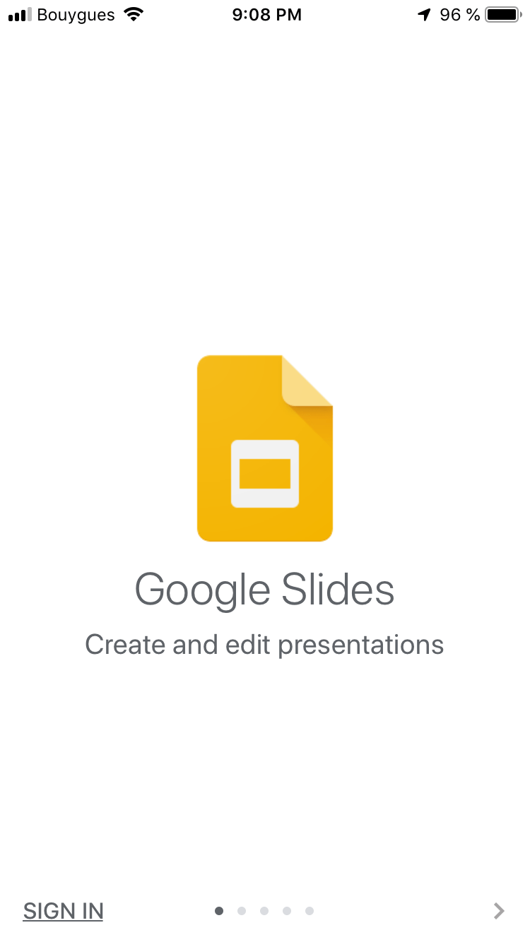 Walkthrough by Google Slides