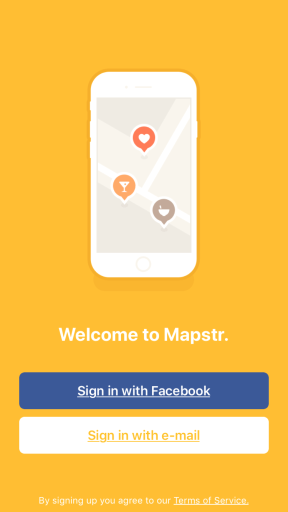 Mapstr Onboarding Homepage Map Mobile Onboarding Signup  - UI Garage - The database of UI